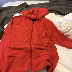 Ladies Lululemon Red Hoodie Sweater