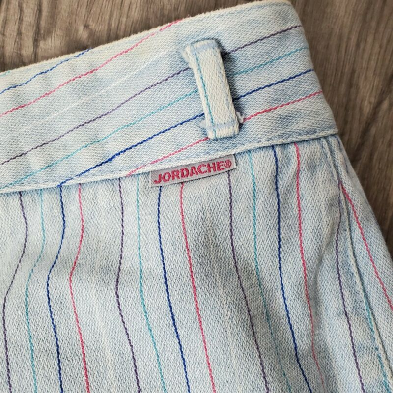 Vintage 80s Jordache Jeans Rainbow Striped High Waisted Tapered Mom Jeans 33L