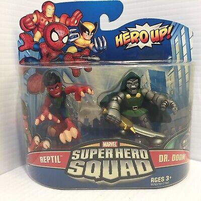 Marvel Super Hero Squad SEALED Wave 18: REPTIL & DR. DOOM 2-PK from SHS Cartoon (Reptil Super Hero Squad)