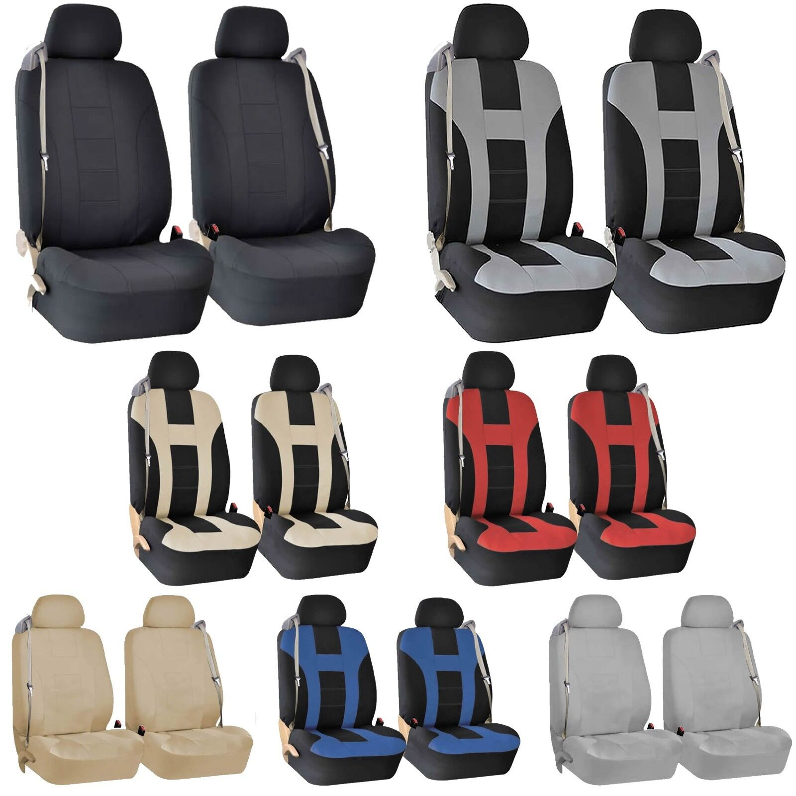 Miraculous Details About Premium Front Seat Covers For Car Truck Suv With Integrated Built In Seat Belts Caraccident5 Cool Chair Designs And Ideas Caraccident5Info