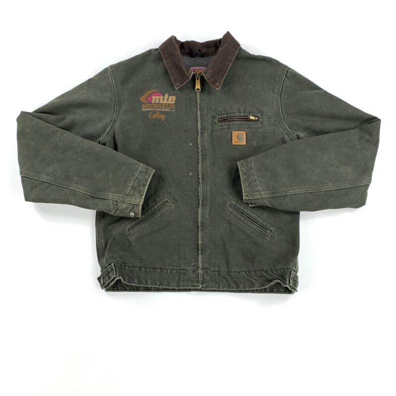 Vintage 90's Carhartt Fleece Lined Jacket Youth Size XL