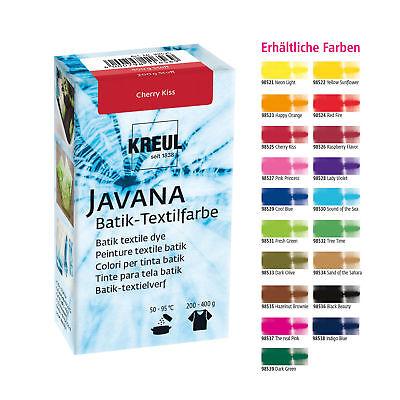 Stoff-farben (KREUL Batikfarbe Textilfarbe JAVANA  70g Färbefarbe Stofffarbe färben ve.Farben)