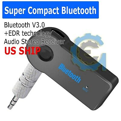 Wireless Bluetooth 3.5mm AUX Audio Stereo Music Home Car Iphone Receiver Adapter