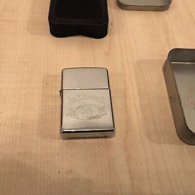 JACK DANIELS ZIPPO LIGHTER AND CASE, GREAT CONDITION