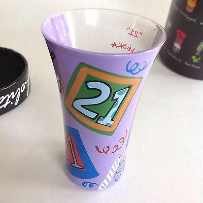 LOLITA  21ST BIRTHDAY SHOT GLASS PARTY SHOT RECIPE ON GLASS Great Gift](21st Birthday Shot Glass)