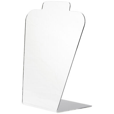 Plymor Acrylic Tall Necklace Display Stand Mirrored 8.5 W X 4 D X 11.5 H
