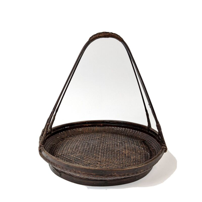 19th Century Chinese Woven Bamboo Basket