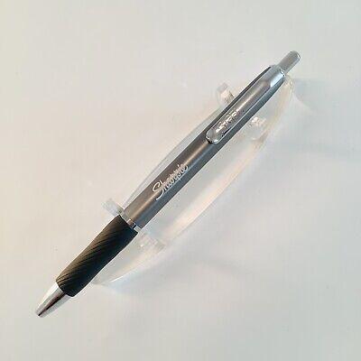 Sharpie S Gel Pen Retractable Metal Barrel Gunmetal Med 0.7 Black Ink