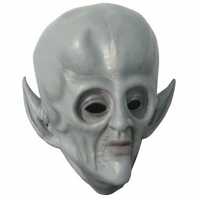 Gray Alien Big Head Spaceman Monster Adult Latex Halloween Cosplay Mask - Grey Alien Mask