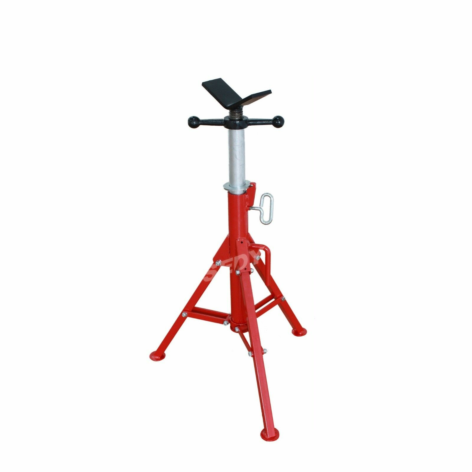 116cm Folding Jack Stand Heavy Duty V Head Pipe Stand