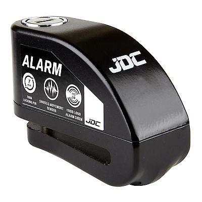 JDC MOTORCYCLE Motorbike Disc Lock ALARM - JAWS - Black