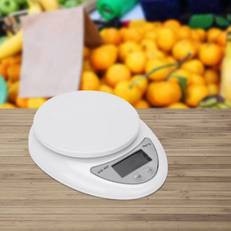 5KG/1KG Sliver LCD Kitchen Cooking Food Weighing Scales