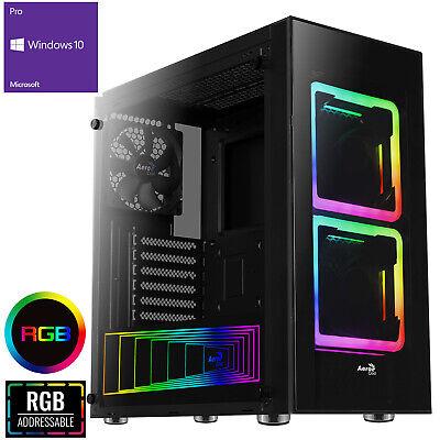 Computer Games - Ultra Fast AMD 9600 Quad Core 8GB 1TB Home Gaming PC Computer Windows 10 TOR RGB