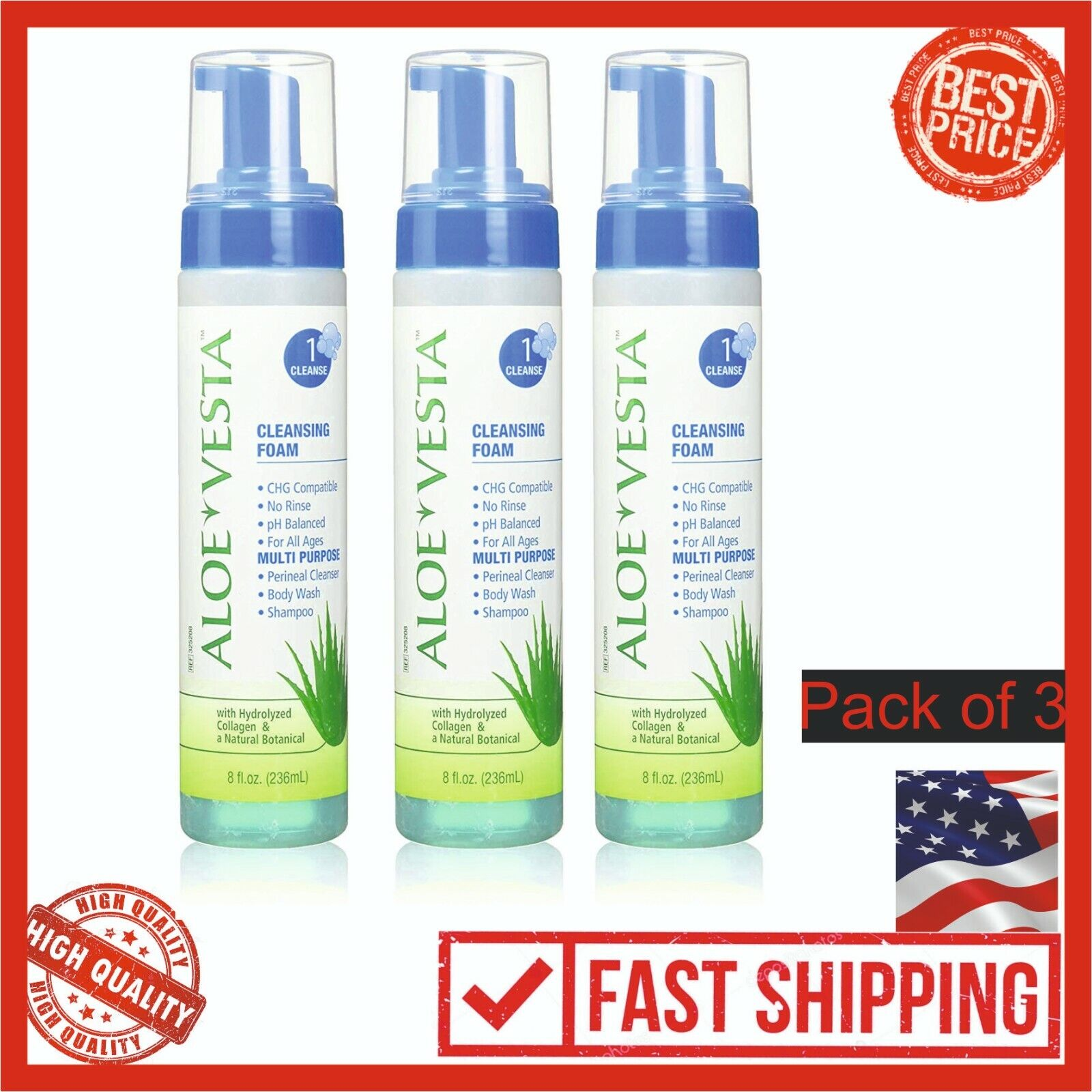Aloe Vesta® Cleansing Foam, 8 oz Bottle