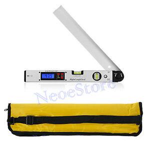 0~225° Digital Inclinometer Protractor LCD Spirit Level Angle Finder Gauge Meter
