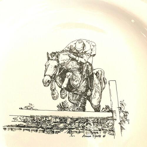 VIintage Ann Chapman Hunter Jumper Dish Plate China Equestrian Horse Award