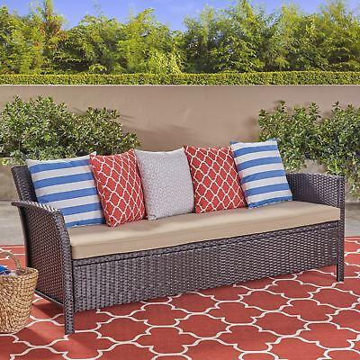 Auguste Outdoor Wicker 3 Seater Sofa Outdoor Wicker 3 Seater Sofa