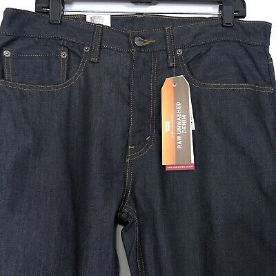 Levi's 502 Jeans Raw Unwashed Denim Regular Fit Taper Men's Size 34x34
