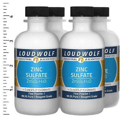 Zinc Sulfate 1 Lb Total 4 Bottles Reagent Grade Fine Powder Usa Seller