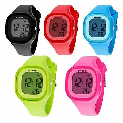 White Teen Boy (SYNOKE Kids Boys Girls Gift LED Sports Digital Electronic Wrist Watch)