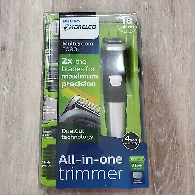 Philips Norelco MG5750/49 Multigroom All-In-One Trimmer Series 5000 With 18Piece