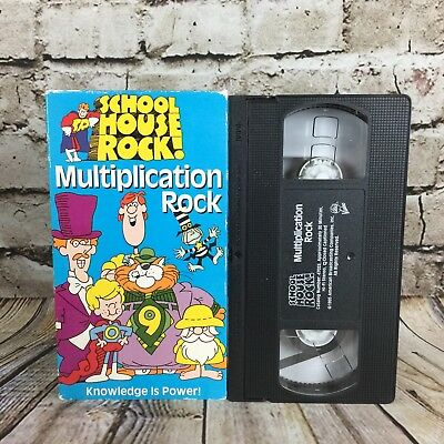 - School House Rock! Multiplication Rock VHS Cassette Tape abc Video