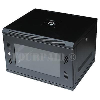 "6U IT Wall Mount Network Server Data Cabinet Rack Locking Lock & Key - 18"" Deep for sale  USA"