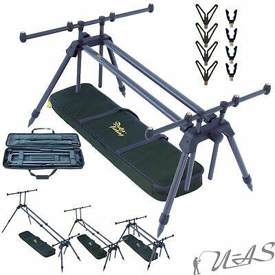 SPAR SET DELTA FISHING XL Rod Pod 4 Bein Ruten Ständer Plus 8 x Auflage High Pod