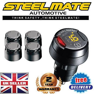 Steelmate TP-70 DIY Fit Car TPMS Tyre Pressure Monitoring System 4 Sensors