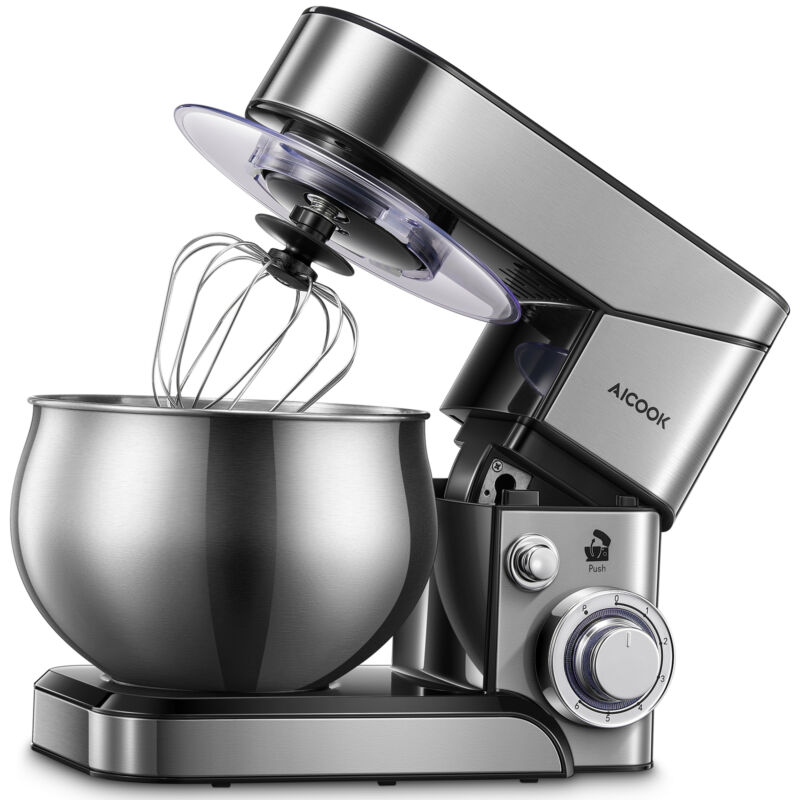 5.8 Qt Stand Mixer 6 Speed Stainless Steel Mixer Powerful Kitchen Dough Mixers