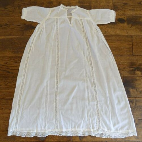 Vintage Antique Cream/Off-White Lace Baby Christening Dress Gown