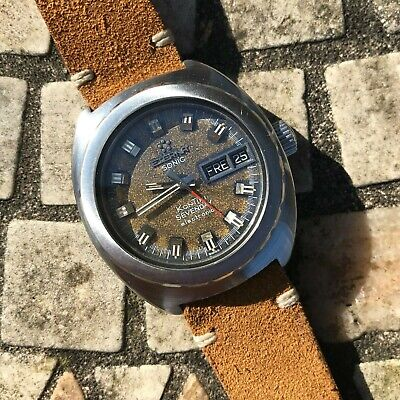 Superb vintage 1970's Eterna Sonic Kontiki 131FTT tropical dial divers watch