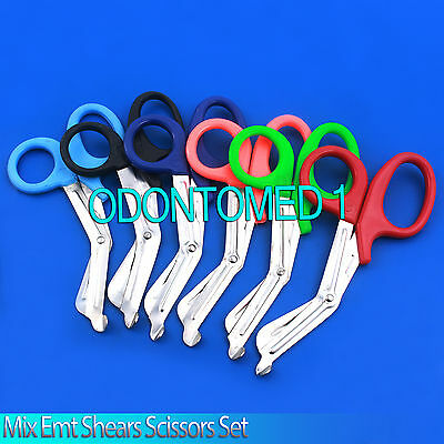 6 Pairs Paramedic Emt Trauma Shears Scissors First Aid 7.25