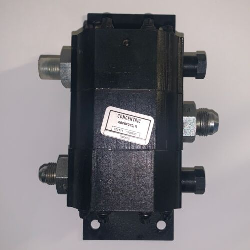 Concentric Two Section Rotary Gear Flow Divider With Relief Valve (#1300635)