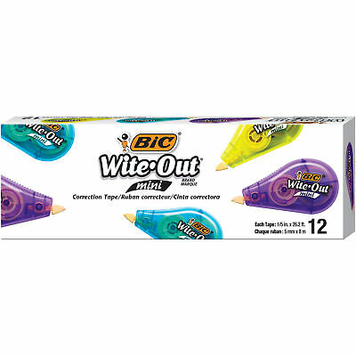 Bic Wite-out Brand Mini Correction Tape White 12-count