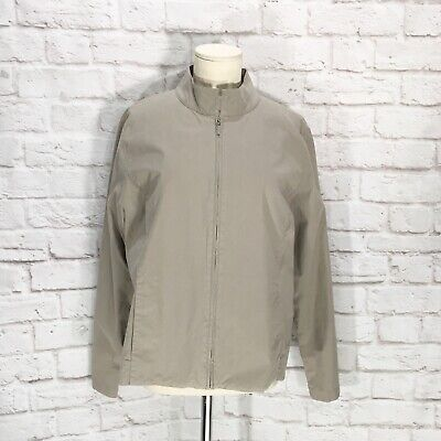 Eileen Fisher Jacket Zip Front Cotton Stretch Women's Size Large L