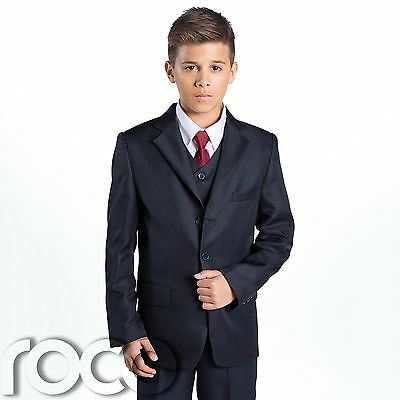 Boys Navy Suit, Page Boy Suits, Prom Suits, Boys Wedding Suit, Communion - Communion Suits Boys