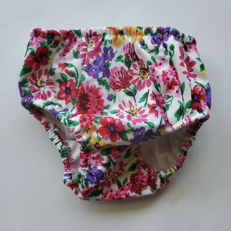Iplay Vintage USA made Medium 18-22 Lbs Floral Girls Swim Diaper