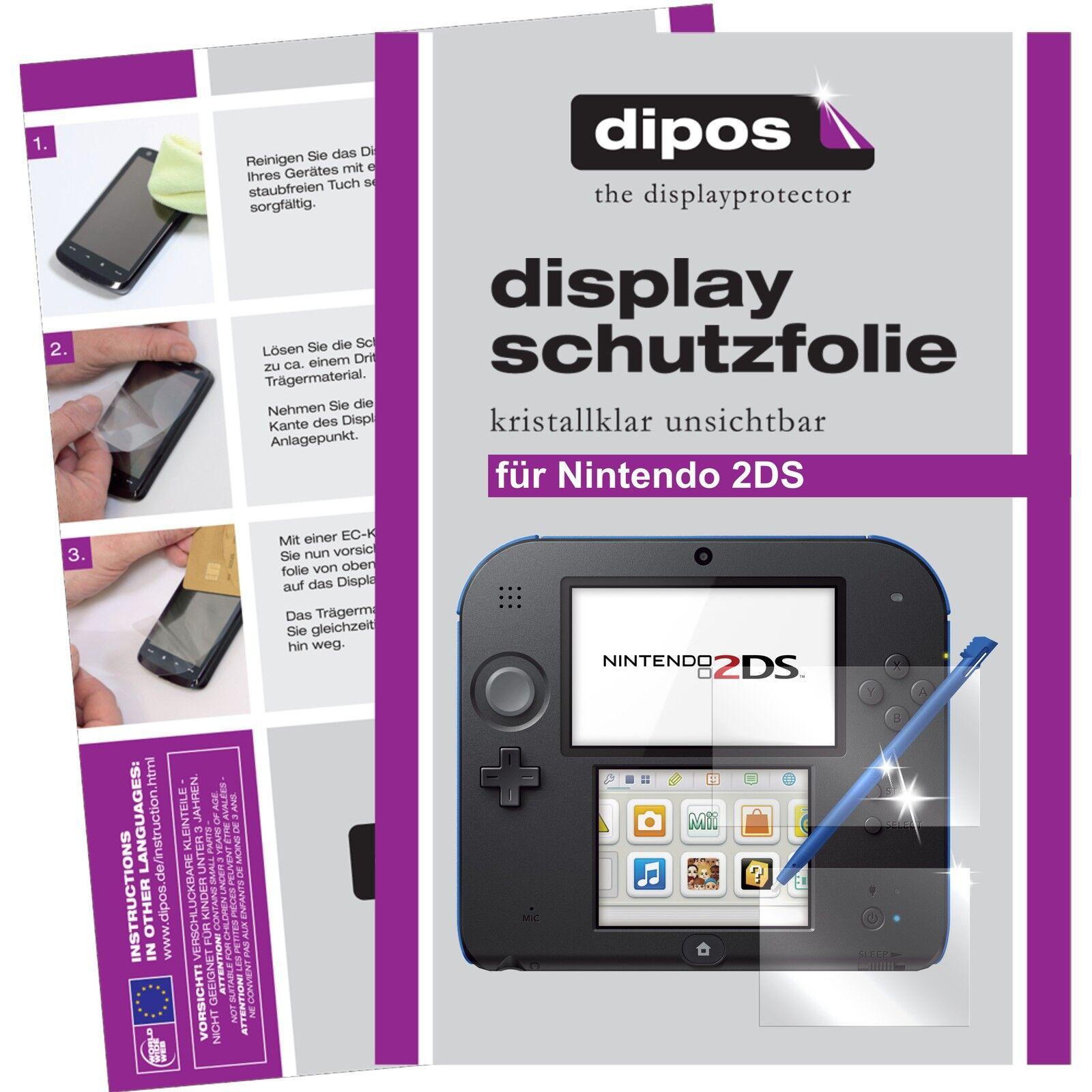 Nintendo 2DS Schutzfolie klar Displayschutzfolie Folie dipos Displayfolie