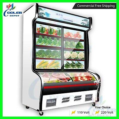 47 Freezer Refrigerator Combo Merchandiser Display Cabinet Combination New Sale
