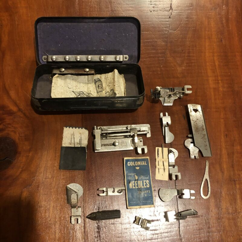 Antique Singer Sewing Machine Attachments Parts Vintage Vtg Lot