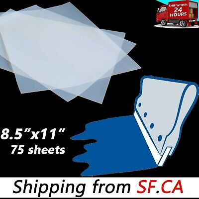 8.5x1175 Sheets - Waterproof Fast-dry Screen Printing Transparency Inkjet Film