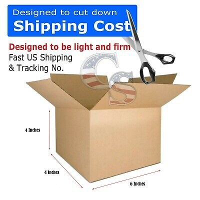 100 6x4x4 Shipping Packing Mailing Moving Tapeless Boxes Corrugated Carton