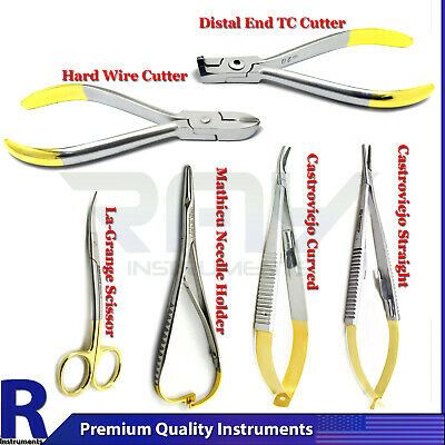 Dental Surgical Castroviejo Needle Holder Forceps Orthodontic Hard Wire Cutters