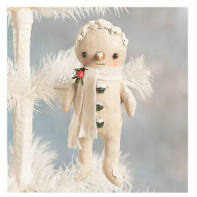 "5.25"" Bethany Lowe Little Snowman Retro Vntg Christmas Tree Ornament Home Decor"