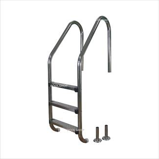 NEW STAINLESS STEEL SWIMMING POOL LADDER 3 AND 4 STEP ABOVE OR B