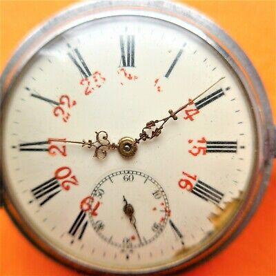 """Men's Pocket Watch, """" Helvetia """", Spring Cover, Ankerhemmung, Zifferblattschaden"""