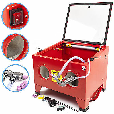 GARAGE WORKSHOP PORTABLE BEAD GRIT SAND SILICA SHOT BLASTING POLISHING CABINET
