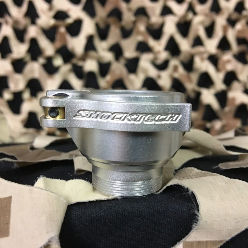 NEW Shocktech DYE/PROTO Clamping Feed Neck Upgrade Feedneck - Dust Silver