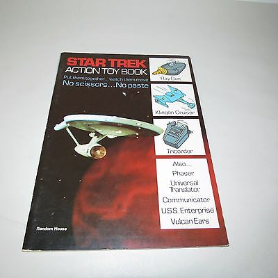 1976 STAR TREK ACTION TOY BOOK - RAY GUN, KLINGON CRUISER & TRICORDER  - NEW
